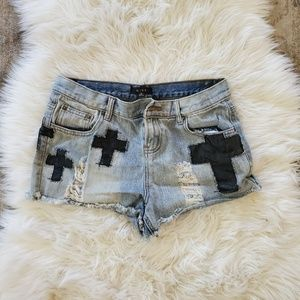 MINE  Distressed Jeans Shorts Size M